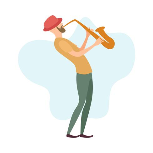 A man playing saxophone