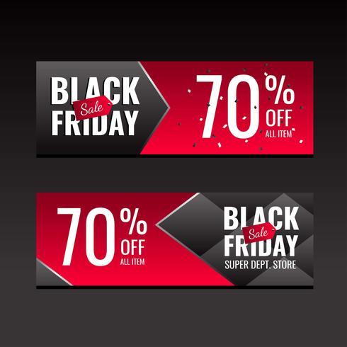 Black Friday verkoop Banners rode sjabloon