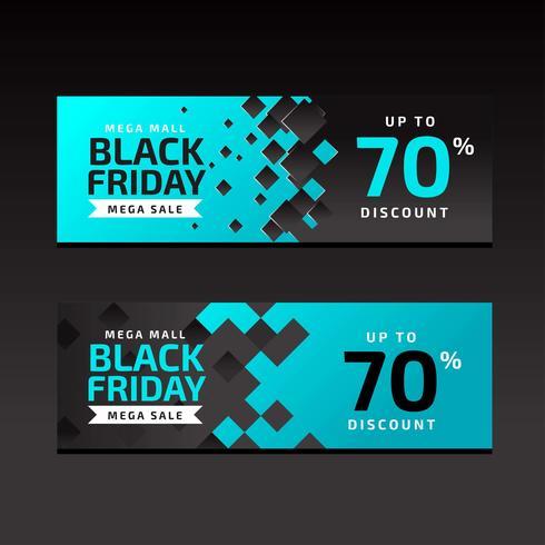 Black Friday-verkoopbanners Blauwe Malplaatje vector