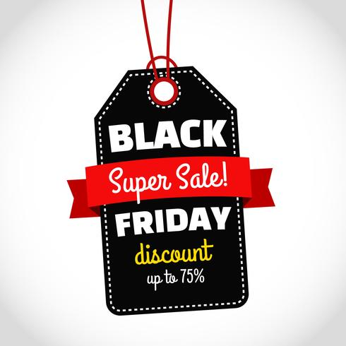 Black Friday Sale With Black Tag