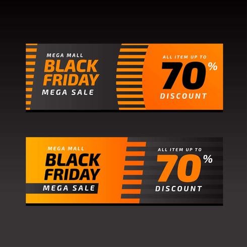 Black Friday Sale Banners Orange Template