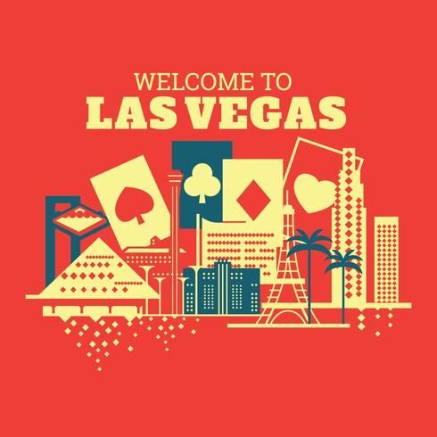 Illustration of Welcome to Las Vegas vector