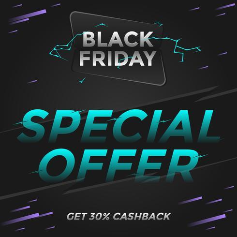 Black Friday offre spéciale sur les médias sociaux Post Vector