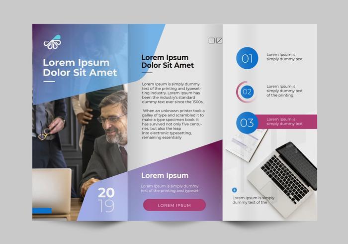 gradient professional business brochure template vector download