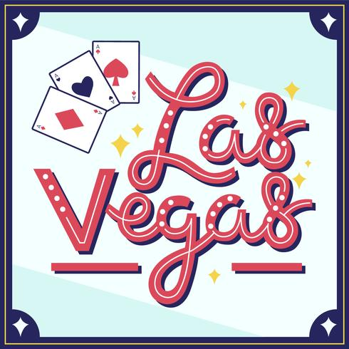 Vector de tipografía Viva Las Vegas