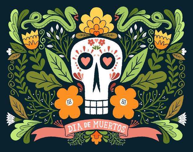dia de muertos schedel
