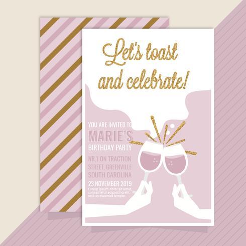 Vektor-Geburtstagsfeier-Einladung