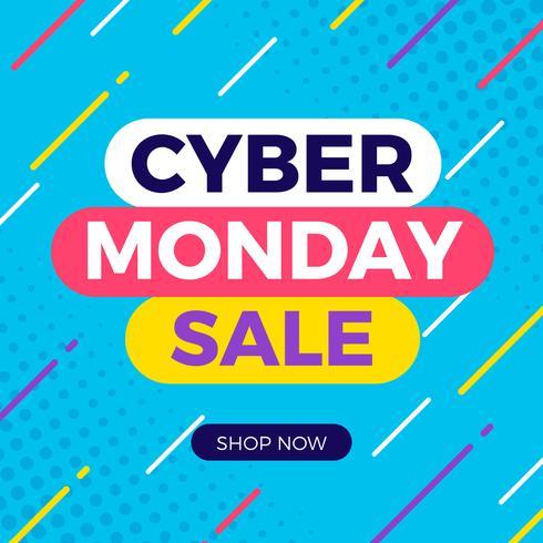 Banner di vendita di Cyber Monday