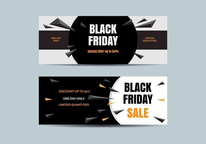 Black Friday-verkoopbanner Vector