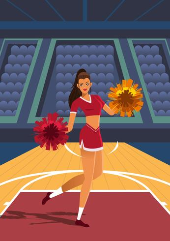Cheerleader de basket-ball vecteur