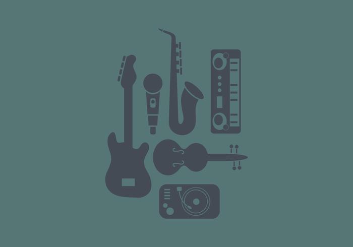Music Instrument Icon Flat