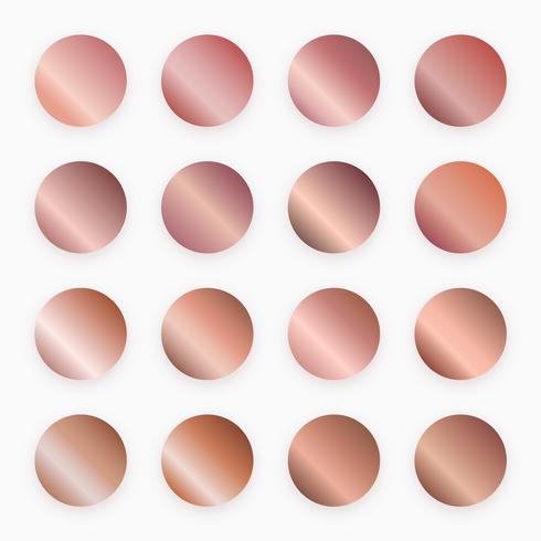 vetor de amostras de gradiente de ouro rosa