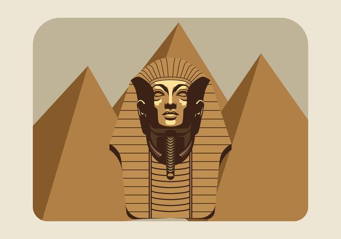 Pharao-Vektor-Illustration vektor
