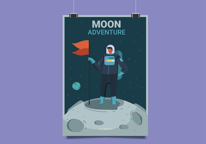 Mond-Reise-Plakat