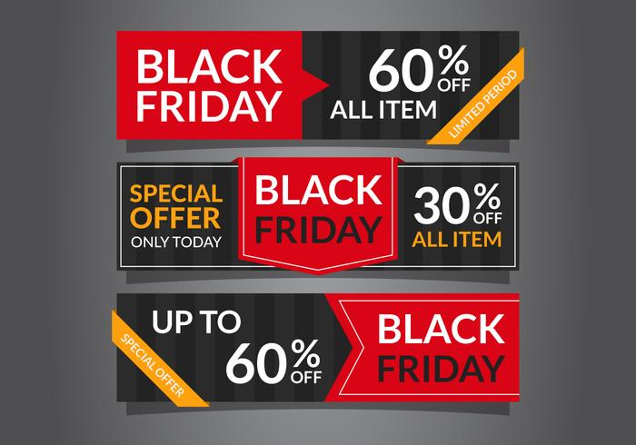 Elegante Black Friday-verkoopbanners