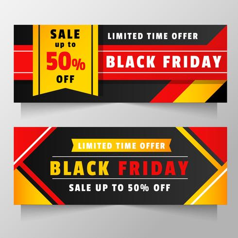 Black Friday Banner Vector