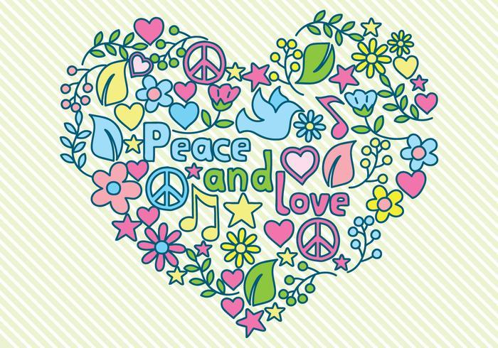 Vrede en liefde illustratie