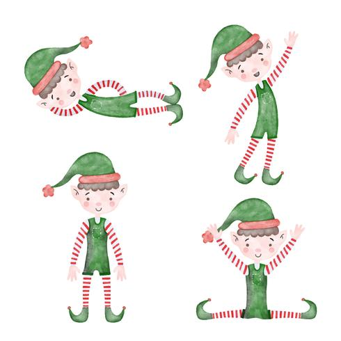 Cute Christmas Elf Collection