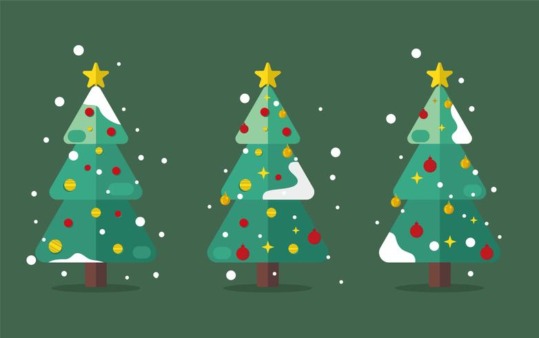 Árbol de navidad de mediados de siglo vector