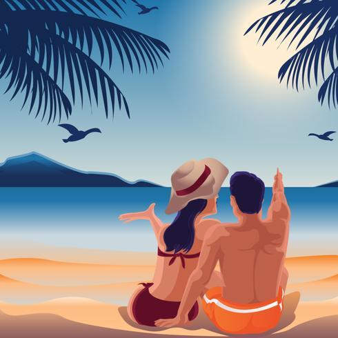 Gemütliches Strandpaar