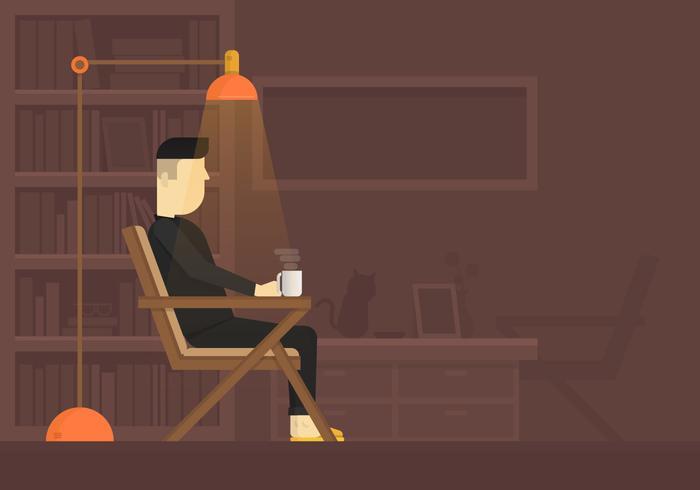 Gezellige instellingen voor een rust en koffie