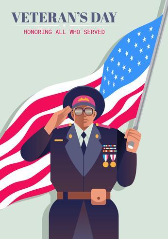 Día de los Veteranos vector