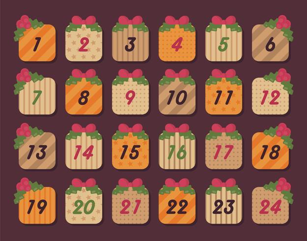 Advent kalender vector