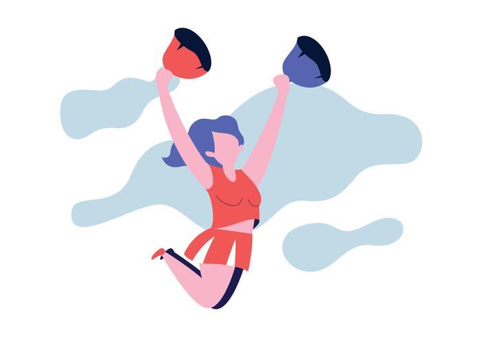 Cheerleader springen vektor