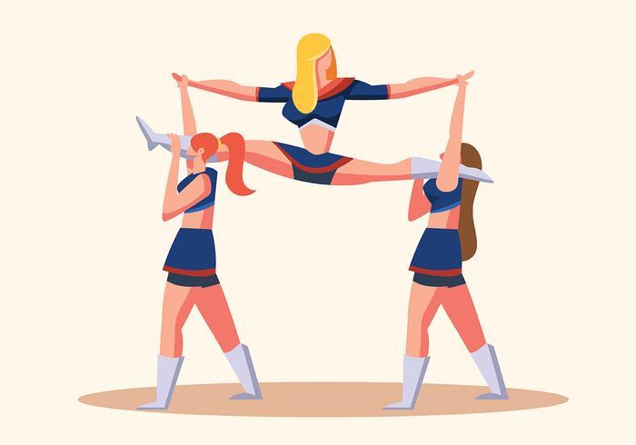 cheerleader vettore