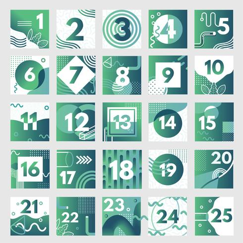Abstracte adventkalender vector