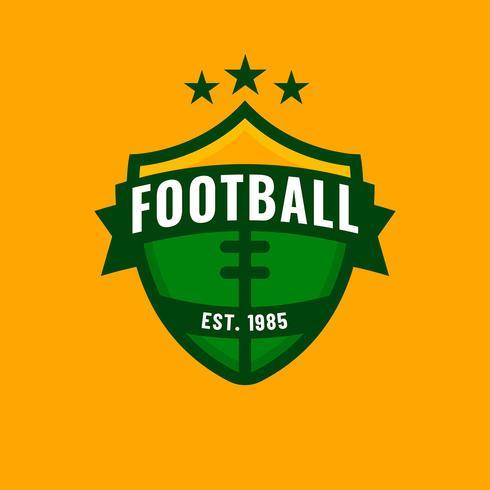 Logo de fútbol americano Vector de escudo