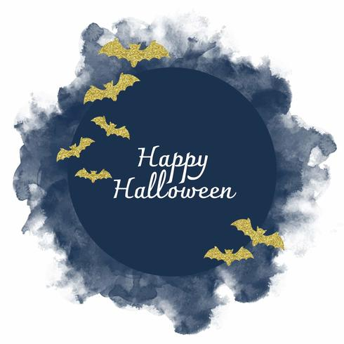 Vector acuarela decoración de Halloween
