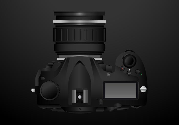 Realistic DSLR Camera - Download Free Vector Art, Stock