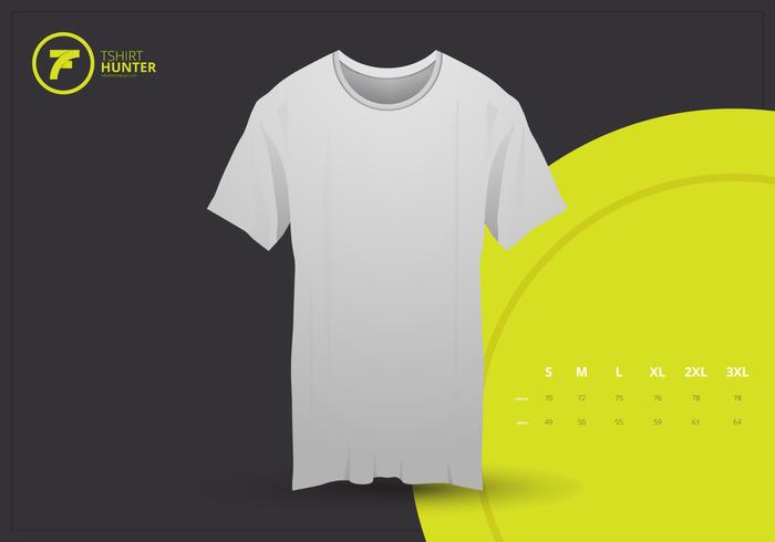 Realistische T-Shirt Mock Up Vorlage