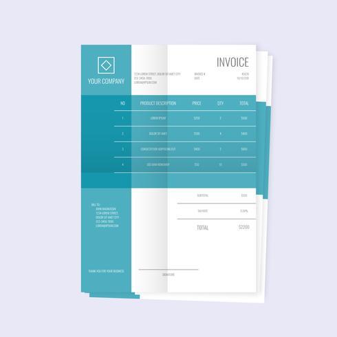 Creative Invoice Template Vector Design