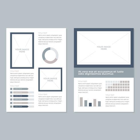 Business-Flyer mit minimalistischem Flair