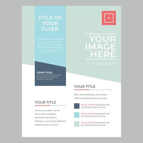 Kleurrijke en moderne zakelijke flyer