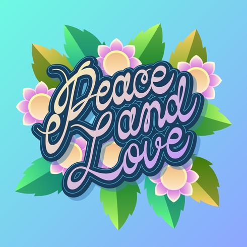 Friedens- und Liebes-Typografie-Vektor