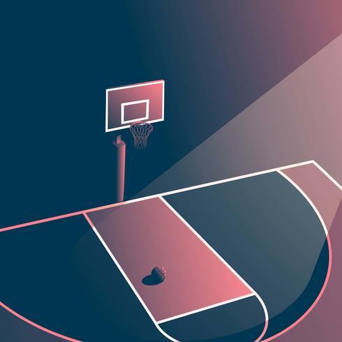 nacht basketbalveld