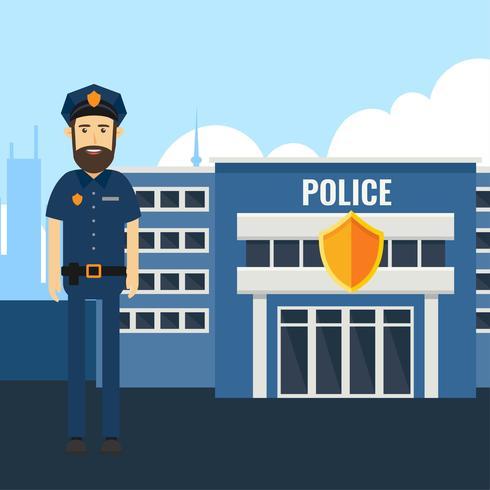 Vector de carácter de oficial de policía