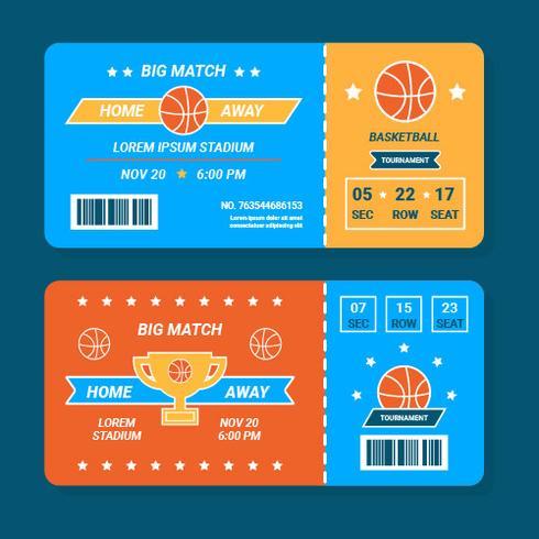 Basketball-Ticket-Vektor