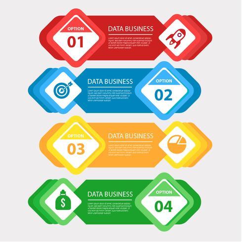 Moderner Geschäfts-Infographik-Vektor