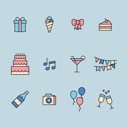 Conjunto De ícones Do Partido