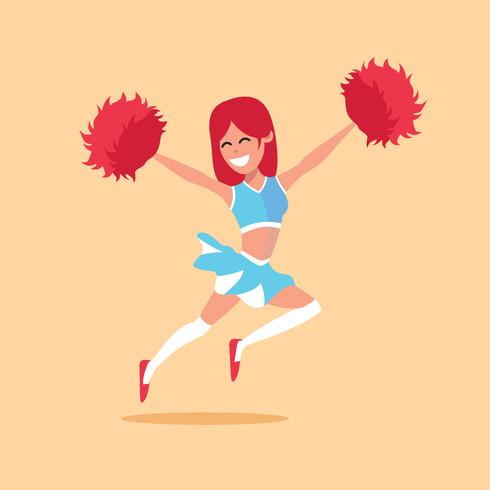 Cheerleader vectorillustratie
