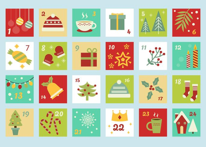 Advent Calendar Template Vector