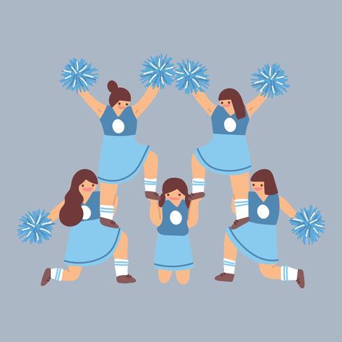 Cheerleaders in het midden van een praktijk