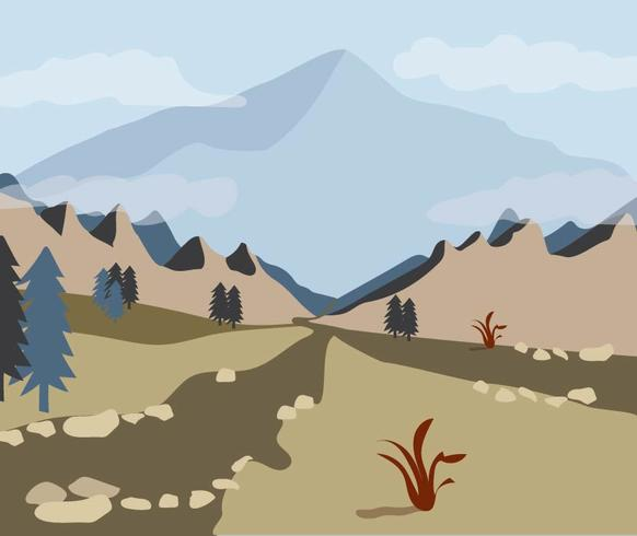 Uitzicht Door de bergvallei