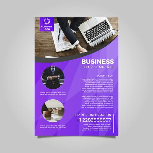 Flat Modern Business Flyer Vector Template