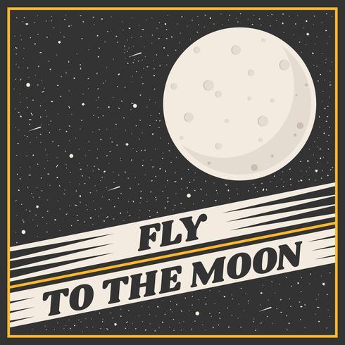 Mond-Reise-Plakat-Vektor