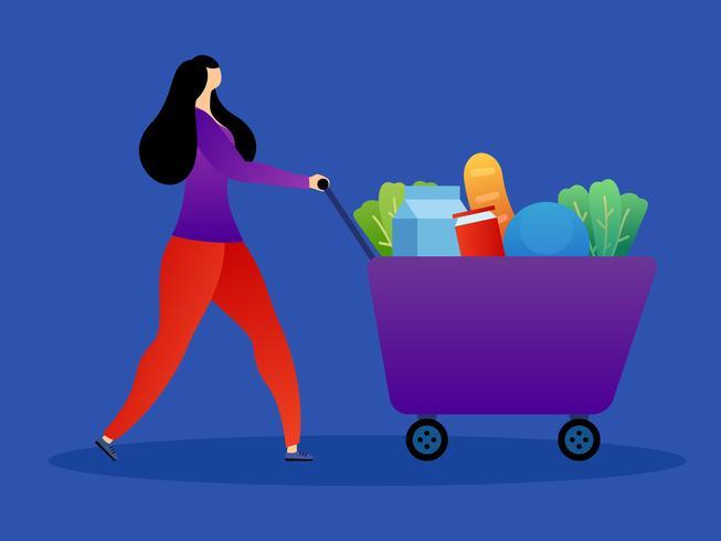 Einzigartige Lebensmitteleinkaufsvektoren